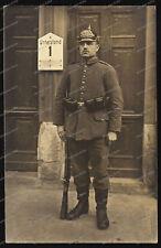 Foto-AK-Portrait-Soldat-Württ.-Infanterie-Regiment Nr.126-Elsass-K98-Feldgr-
