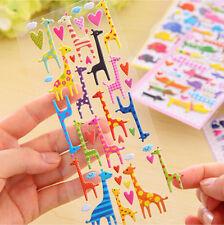 Lovely Cartoon 3D Bubble Sticker Cat Dog Giraffe Elephant for Kids Gift Toy WdFH