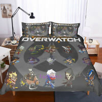 Single/Double/Queen/King Bed Doona/Duvet/Quilt Cover Set Overwatch Pillowcase