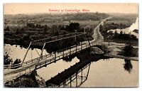 Early 1900s Rum River Bridge and Scenery at Cambridge, MN Postcard