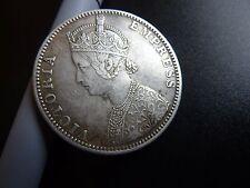 1890 India Victoria Empress Silver Rupee Coin