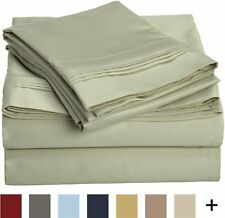 1000 Thread Count 100% Egyptian Cotton, Full Bed Sheet Set, Single Ply, Solid, S