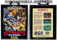 Streets of Rage - Sega Genesis Custom Case *NO GAME*