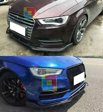 AUDI A3 8V 2012-2015 LAMA SOTTO PARAURTI ANTERIORE IN ABS LOOK RS3