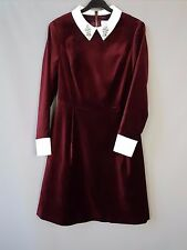 Ted Baker velvet dress BNWT Cheryll embellished Collared party Size 2 / UK 10