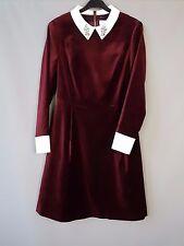 Ted Baker velvet dress BNWT Cheryll embellished Collared party Size 2 / UK 10
