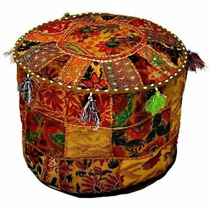 Indian Bedroom Mandala Ottoman Pouffe 100% Cotton Foot Stool Cover Indian