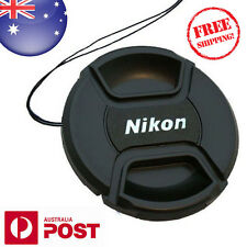 NIKON LENS CAP - 58mm Camera Snap-on Len Cap Cover with Cord - AUS POST - Z130F
