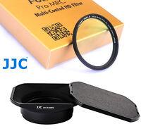 JJC LH-JX100FII lens Hood 49mm Nano UV Filter for Fuji X100s X100 X100T X100F