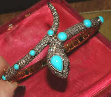 14 Carat Yellow Gold Turquoise Victorian Fine Jewellery