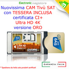 SMARCARD HD CAM DIGIQUEST FULL HD TV LED CON TESSERA SCHEDA TIVUSAT TIVU'SAT NEW