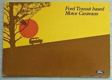 FORD TRANSIT Based MOTOR CARAVANS Range Sales Literature Pack 1969 #FB10