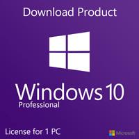 INSTANT WINDOWS 10 PROFESSIONAL PRO 32|64 BIT GENUINE ACTIVATION KEY LICENSE