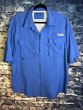 MEN'S BIMINI BAY OUTFITTER LTD Blue Button DOWN SHIRT SIZE XL Vintage Rare🔥fish