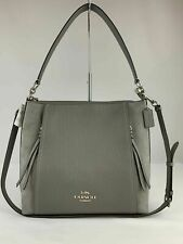 Coach Marlon HOBO Handbag Tote  Leather and Suede Heather Grey  NWT