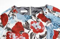Dries van Noten Blue Floral Frill Shift Dress F40 uk 12