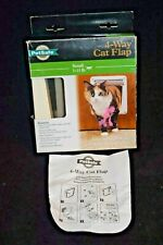Petsafe 4 Way Cat Flap Small 1-15 lbs. Locking, In Only, Out Only, Open Both Way