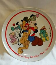 Happy Birthday Pluto  Plate 1931-1981 by Schmid