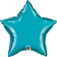 "STAR TURQUOIS PLAIN FOIL BALLOON 20"" BIRTHDAY PARTY SUPPLIES"
