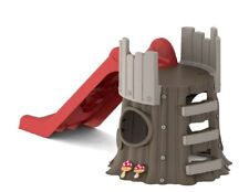 Scivolo Grande Per Bambini e Casetta da Giardino Area Gioco Casa Sull' Albero