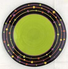 "8"" Ceramic Polka Dot Design Footed Round Trivet Server Hand Painted Berryware"