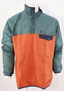PATAGONIA HOUDINI SNAP-T JACKET MEN CHAQUETA PULLOVER GIACCA ORANGE SIZE L NEW