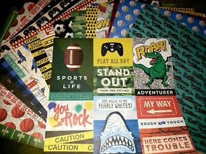 Scrapbook Paper 12x12 BOYS WILL BE BOYS SPORTS CARS DINOS 20 pgs