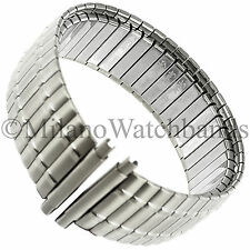 18-24mm Speidel Twist-O-Flex Silver Tone Stainless Steel Mens Watch Band 1393/02