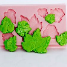 Silicone Mold Maple Leaf Mould Food Safe Fondant Chocolate Craft Resin Clay (713