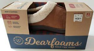 Dearfoams Men's Memory Foam Slippers Indoor/Outdoor Clog Shearling XL 13-14