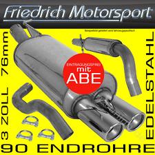 """FRIEDRICH MOTORSPORT 76mm 3 ZOLL 3"""" EDELSTAHL AUSPUFFANLAGE VW GOLF 4 IV"""