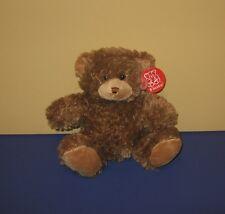 "New 8"" Soft Sparkle Look Brown Teddy Bear Stuffed Plush by Fiesta"
