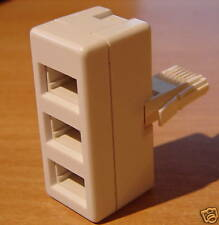 TELEPHONE ADAPTOR TRIPLE BT FAX MODEM