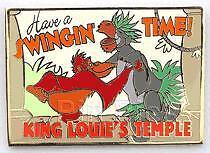 Disney Auctions Postcard 2 King Louie & Baloo LE Pin