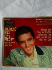 "1957 ELVIS PRESLEY, ""JAILHOUSE ROCK, M-/BEAT-UP, R&R EP & PIC SLEEVE EPA-4114"