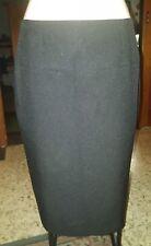 WOMENS Sz 14 black NOW formal / work skirt LOVELY! ZIPS AT BACK! BELT LOOPS