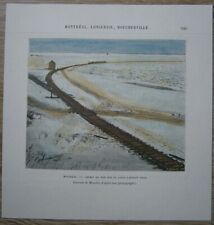 1890 Reclus print RAILWAY ON FROZEN ST. LAWRENCE RIVER, MONTREAL, CANADA (#44)