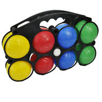 8pc Plastic French Boules Set Petanque Balls Garden Game Free Carry Case NEW Fun