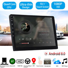 """2DIN Car Stereo 10.1"""" Android 8 Touch Ultrathin GPS Navi Radio WIFI MP5 Player"""