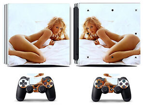 Lady 209 Vinyl Skin Sticker Cover for Sony PS4 Pro PlayStation 4 Pro Decals