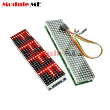 MAX7219 Dot Matrix Module Microcontroller 4 In 1 Display With 5P Line Fr Arduino