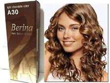 BERINA PERMANENT A30 COLOR NEW HAIR DYE CREAM LIGHT CHOCOLATE COLOR FREE SHIP