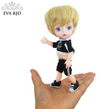"1/8 Boy 15cm 5.9"" SD BJD Doll + Clothes Wig Shoes jointed dolls PVC Soft Head"
