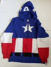 Boys Captain America Star Hoodie Sweater Small. Long Sleeve, Red White & Blue
