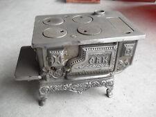 "Antique Cast Iron Kenton Oak Miniature Toy Stove 5 3/8"" Tall"