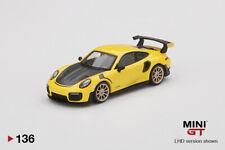 Mini Gt Porsche 911 Gt2 Rs Racing Yellow Mgt00136 1/64