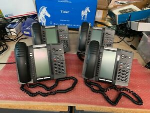 4 x Mitel 5320e IP Phone Backlit 50006634 w/ Stand Handset & Handset Cord Lot of