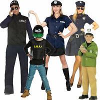Polizist Polizistin Polizei Kostüm SWAT Spezialeinheit Herren Damen Kinder Junge