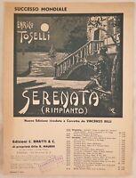 ENRICO TOSELLI SERENATA RIMPIANTO 1938 PIANOFORTE VINCENZO BILLI SILVESTRINI