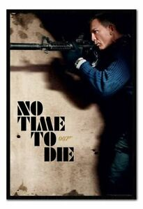 """FRAMED James Bond No Time To Die Rifle Poster Official Licensed 26x38"""""""